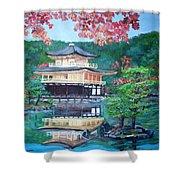 Golden Pavillion In Kyoto Shower Curtain