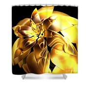 Golden Pineapple By Jammer Shower Curtain
