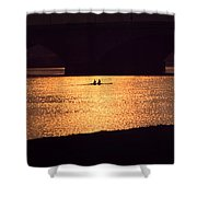 Golden Potomac Shower Curtain