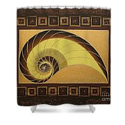 Golden Ratio Spiral Shower Curtain