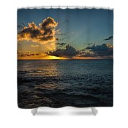 Golden Rays Shower Curtain