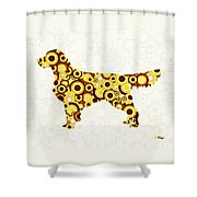 Golden Retriever - Animal Art Shower Curtain