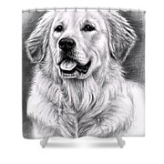 Golden Retriever Spence Shower Curtain