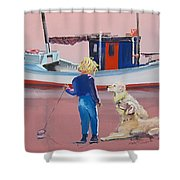 Golden Retrievers Shower Curtain
