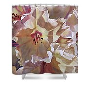 Golden Rhododendronfull Shower Curtain