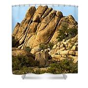 Golden Rocks Of Hidden Valley Shower Curtain