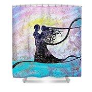 Golden Romance Shower Curtain
