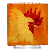 Golden Rooster Shower Curtain