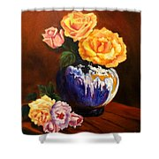 Golden Roses Jenny Lee Discount Shower Curtain