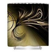 Golden Scroll Shower Curtain