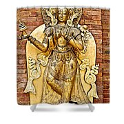 Golden Sculpture In A Hindu Temple In Patan Durbar Square In Lalitpur-nepal Shower Curtain