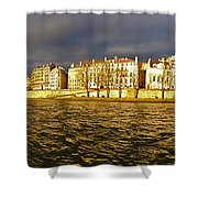 Golden Seine Shower Curtain