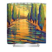 Golden Silence 3 Shower Curtain