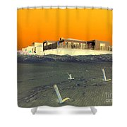Golden Sky Shower Curtain