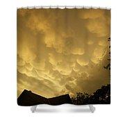 Golden Sky's Shower Curtain