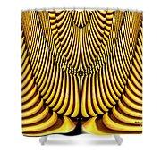 Golden Slings Shower Curtain