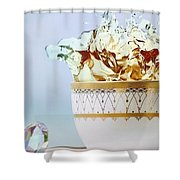 Golden Splash Shower Curtain