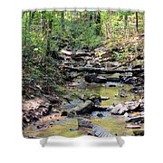 Golden Spring Waters Of Hurricane Branch Shower Curtain
