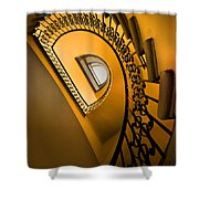 Golden Staircase Shower Curtain
