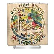 Golden State Warriors Logo Art Shower Curtain