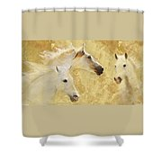 Golden Steeds Shower Curtain