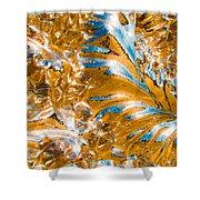 Golden Steel Swirl Shower Curtain