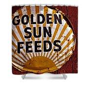 Golden Sun Feeds Shower Curtain