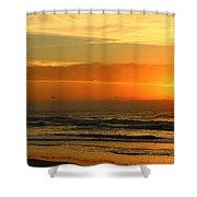 Golden Sun Up Shower Curtain