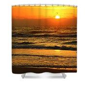 Golden Sun Up Reflection Shower Curtain