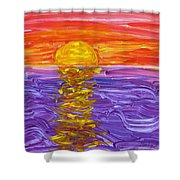 Golden Sunset 2 Shower Curtain