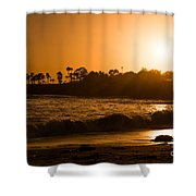 Golden Sunset At Laguna Shower Curtain