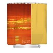 Golden Sunset Glow Shower Curtain