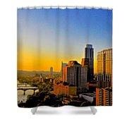 Golden Sunset In Austin Texas Shower Curtain
