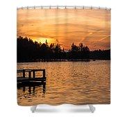 Golden Sunset Lake Horicon Lakehurst Nj Shower Curtain