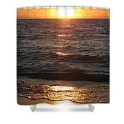 Golden Sunset At Destin Beach Shower Curtain