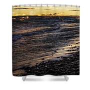 Golden Superior Shore Shower Curtain