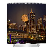 Golden Supermoon Shower Curtain