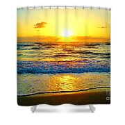 Golden Surprise Sunrise Shower Curtain