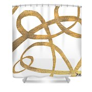 Golden Swirls Square II Shower Curtain