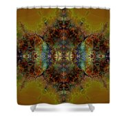 Golden Tapestry Shower Curtain