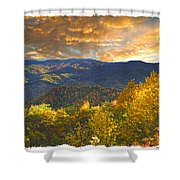 Golden Tipped Smokey's  Shower Curtain