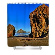 Golden Towers Of Bandon Shower Curtain