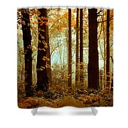 Golden Trees Shower Curtain
