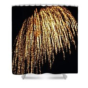 Golden Umbrella Shower Curtain