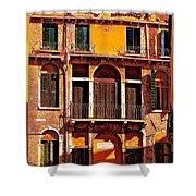 Golden Venice Shower Curtain