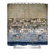 Golden Wall Shower Curtain
