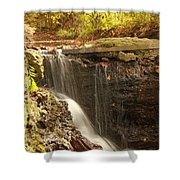 Golden Waterfall October In Ohio Shower Curtain