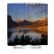 Golden Wild Goose Island Shower Curtain