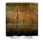The Golden Winds Blew The Stars Shower Curtain