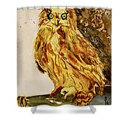 Goldene Bier Eule Shower Curtain